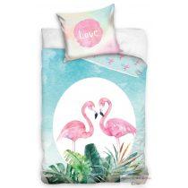 Ifjúsági ágyneműhuzat garnitúra flamingó