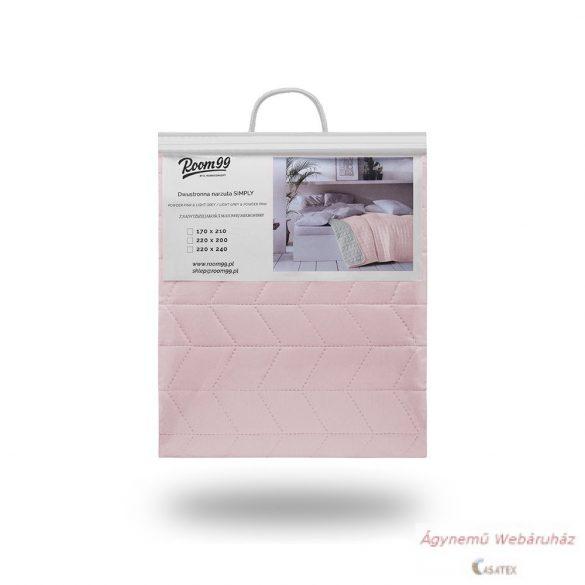 Ágytakaró Simply Light Grey & Pastel Pink 200 x 220
