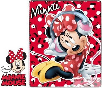 Polár takaró Minnie egeres 120*140