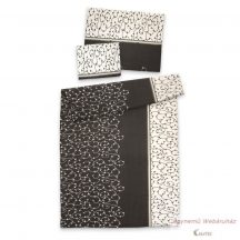 Krepp ágynemű garnitúra fekete-fehér