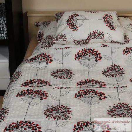 Krepp ágynemű garnitúra piros virágos