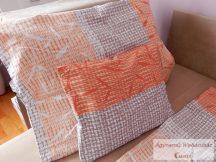 Pamut szatén narancs mintás ágyneműhuzat garnitúra