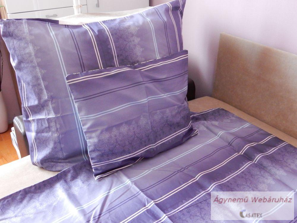 Pamut szatén lila-szürke mintás ágyneműhuzat garnitúra kétoldalas 76b2362ca2
