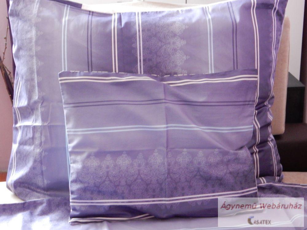 Pamut szatén lila-szürke mintás ágyneműhuzat garnitúra kétoldalas 25b6c48c77