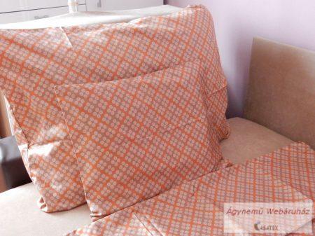 Pamut szatén naranc-barna ágyneműhuzat garnitúra