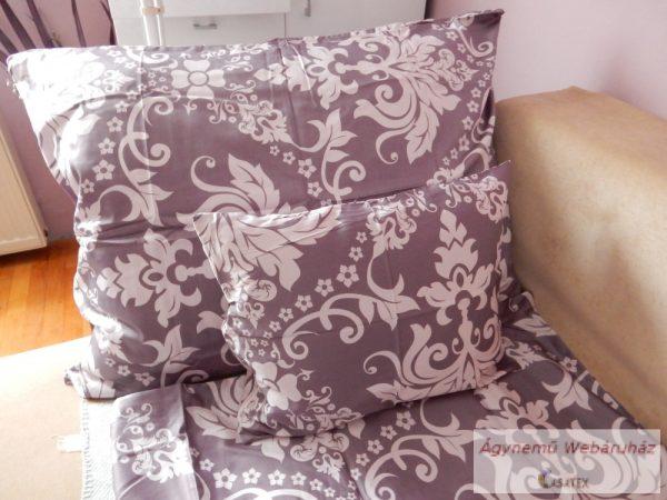 Pamut szatén padlizsán mintás ágyneműhuzat garnitúra