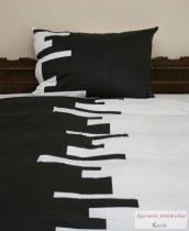 Pamut szatén fekete-fehér ágyneműhuzat garnitúra