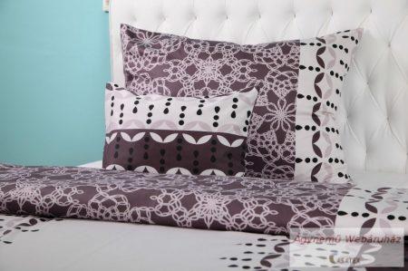 Pamut szatén barna mintás ágynemű