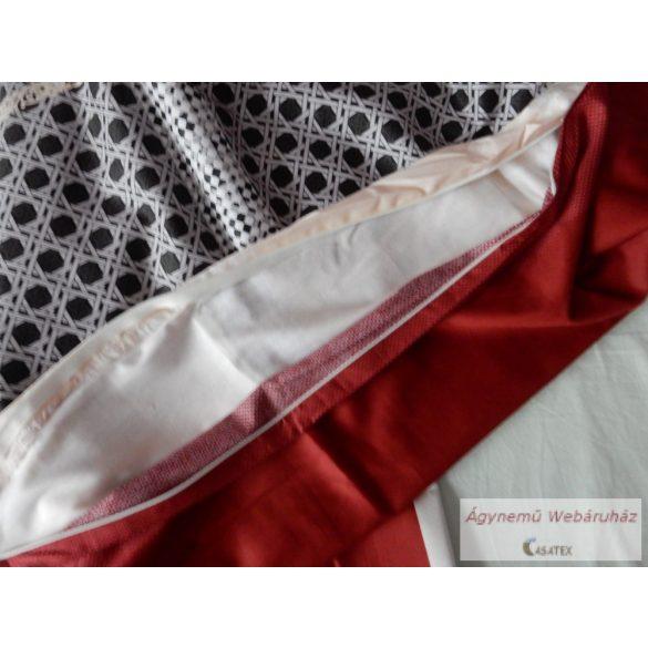 Pamut szatén bordó,vaj mintás ágyneműhuzat garnitúra