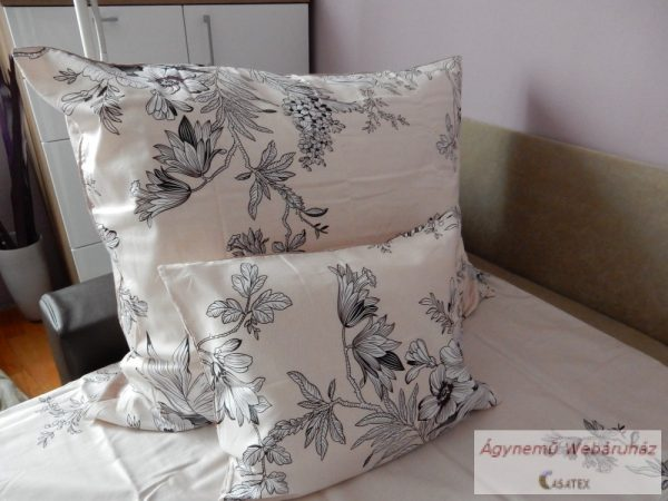 Pamut szatén virág mintás ágyneműhuzat garnitúra