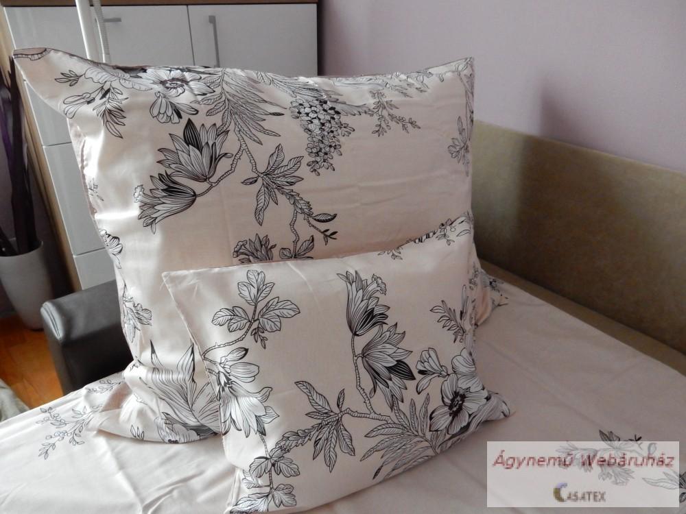 Pamut szatén virág mintás ágyneműhuzat garnitúra 15ab8117df