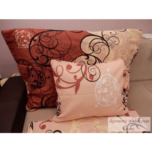 Krepp ágynemű garnitúra barna mintás