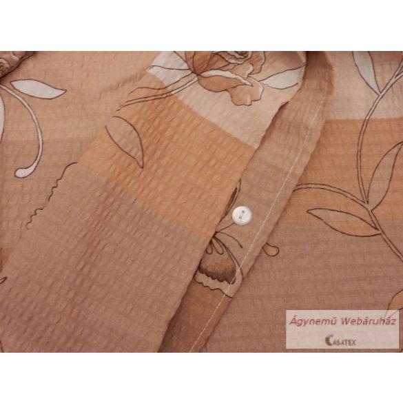 Krepp ágynemű garnitúra barna lepkés