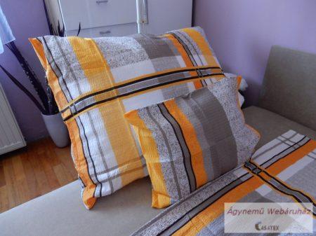 Krepp ágynemű garnitúra barna-narancs