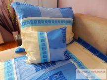 Krepp ágynemű garnitúra kék