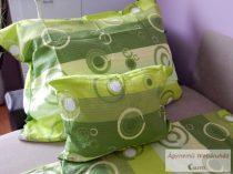 Krepp ágynemű garnitúra zöld körös