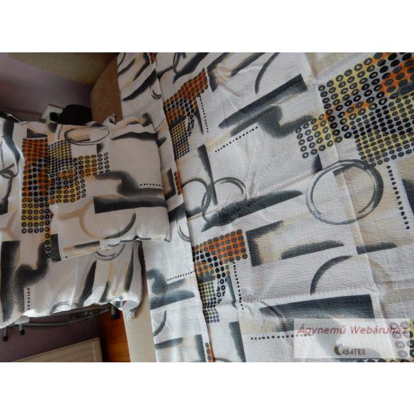 Krepp ágynemű garnitúra szürke-fehér