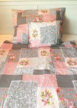 Krepp ágynemű garnitúra rózsás