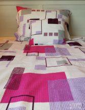 Krepp ágynemű garnitúra geo lila