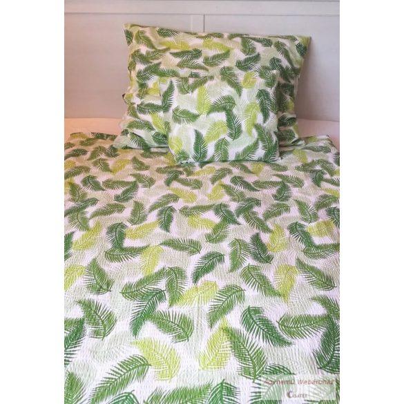 Krepp ágynemű garnitúra zöld pálmás