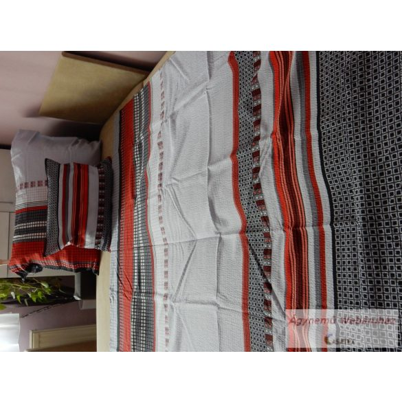 Krepp ágynemű garnitúra modern kockás