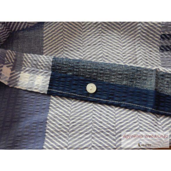Krepp ágynemű garnitúra modern kockás kék