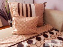 Pamut szatén kétoldalas barna mintás ágyneműhuzat garnitúra