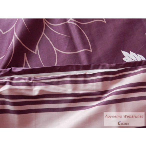 Pamut szatén kétoldalas padlizsán ágyneműhuzat garnitúra