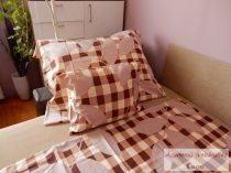 Pamut szatén kétoldalas barna pöttyös ágyneműhuzat garnitúra