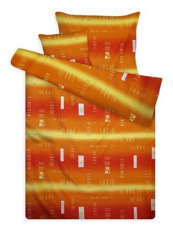 Mikro-krepp ágyneműhuzat garnitúra narancs-sárga