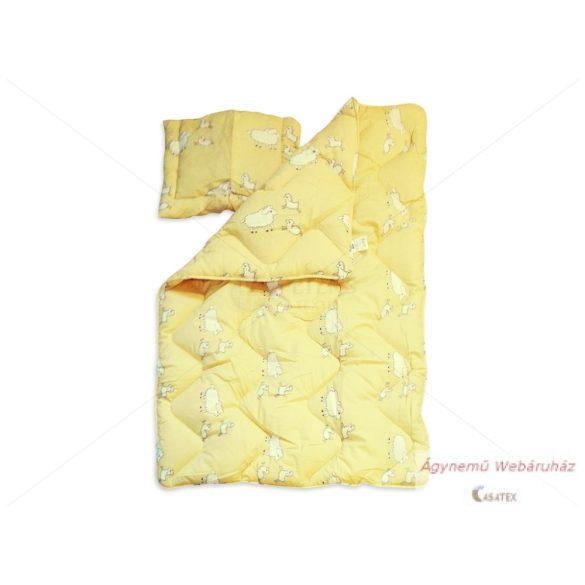 Antiallergén gyermek garnitúra  2 részes sárga bárányos