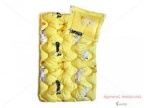 Antiallergén gyermek garnitúra  2 részes sárga kutyás