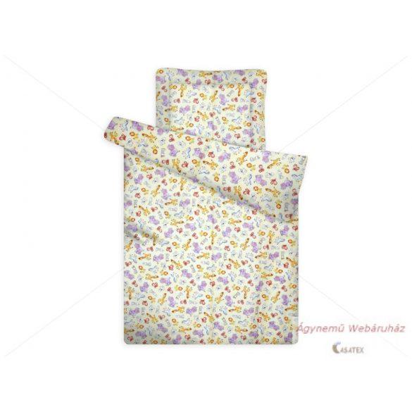 Gyerek paplan-párna garnitúra mosható sárga állatos