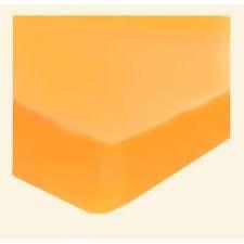 Jersey gumis lepedő sárga 160x200
