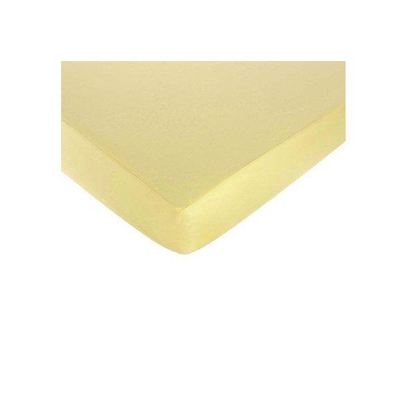 Jersey gumis lepedő vanilia 160x200