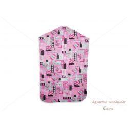 Óvodai vállfás ruhazsák rózsaszín lepkés