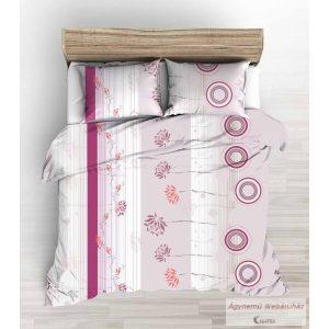 Pamut vászon ágyneműhuzat garnitúra cikllámen virágos