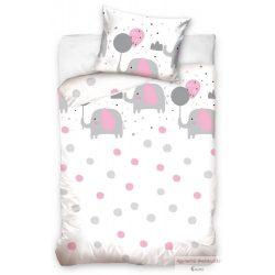 Ovis ágyneműhuzat garnitúra elefántos rózsaszín