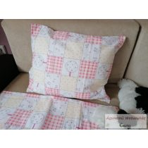 Gyerek ágyneműhuzat garnitúra ovis méret rózsaszín kockas